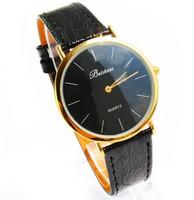 New Arriving Simple Phnom Penh Upscale Men's Man Male Leather Analog Quartz Wristwatches Free&Drop Shipping