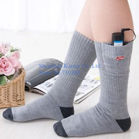 New Arrival 2.4V Electric Heating Socks Winter Portable Cotton Warm Soft Hot Socks With Power Battery  100pcs/lot Free Shipping