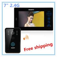 "7"" 2.4G TFT Wireless Video Intercom Door Phone Doorbell Home Security LCD LED Camera Monitor"