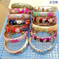 Fashion Bangles  Beijing cloisonne bracelet the broadened peones bracelet accessories unique gift snap bracelet  women bangles