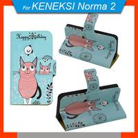 Free Shipping 360 Degrees Rotating Cartoon PU Leather Universal Case + Free Gift For Keneksi Norma 2