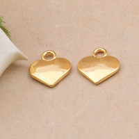 Free Shipping 24K Gold Plated Hearts Charms,10pcs/lot DIY Love charms,Charms for jewelry making XBL262