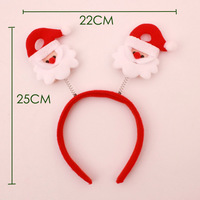 Free shipping Christmas decorations adult children dress up Santa Claus snowman party elk hair bands