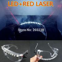 Free Shipping LED+laser glasses flashing glasses dj glasses