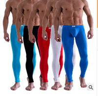 Brand Men Long Johns Men's Thin Elastic Line Pants Male Fashion Cotton Lycra Long Johns For Sexy Man's Underpants Legging Tight