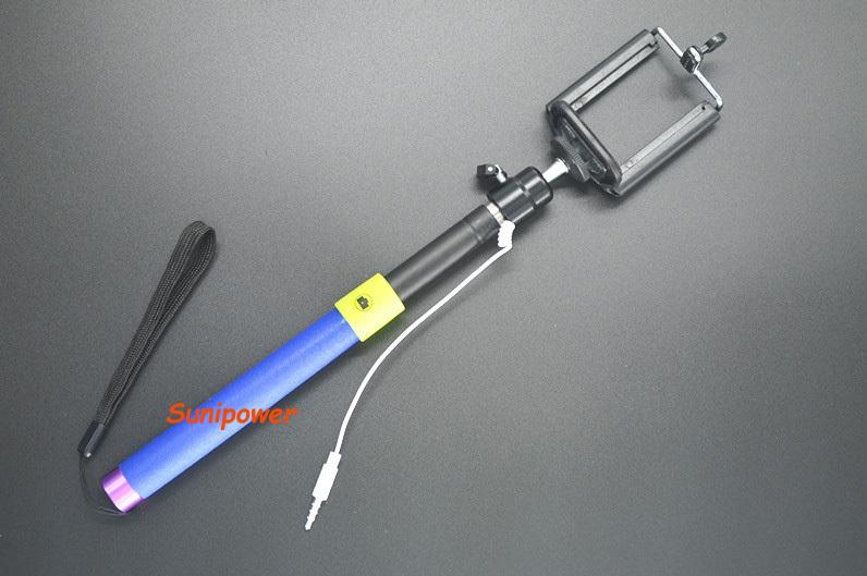 buy extendable handheld telescopic selfie stick tripod cable. Black Bedroom Furniture Sets. Home Design Ideas