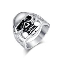 2015 New Rock  skull men ring stainless steel rings for men  jewelry RC-015