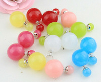 Wholesale Double Pearl Earrings Multicolor Cute Stud Earrings for Women Hot Sale Antiallergic Hight Quality Free Shipping