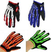 120pairs/lot Motorbike Racing Riding Cycling Mountain Bicycle Bike Sports Ghost Skeleton skull Bone Motorcycle Gloves