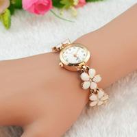 Feitong Fashion Daisies Flower Rose Gold Bracelet Wrist Watch Women Girl Gift Wholesales