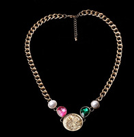 Wholesales fashion bracelets women christmas gift statement necklace Chunky Necklaces Lion