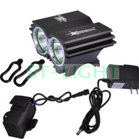 5000 Lumens bike front light SolarStorm X2 cycling light 2XCREE XM-L U2 luz led bicicletas + battery pack+charger free shipping