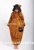 Winter Spring Autumn Anime Hello Kitty Leopard KT Cat Women Female Warm Cute Pajama Pijama Sleepwear With Hood Pajama
