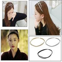 3Pcs/lot Fashion Elastic Double Headband Hair Band Women Girls Leather Woven Hair Band Double Braided Hairband Headband 3 Colors