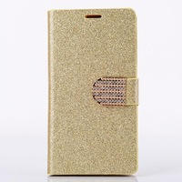 High quality Luxury Glitter Diamond PU leather Wallet Case for LG G3