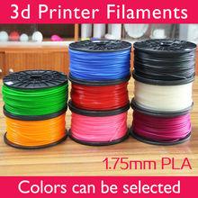 3d printer filaments PLA/ABS 1.75mm/3mm 1kg plastic Rubber Consumables Material MakerBot/RepRap/UP/Mendel