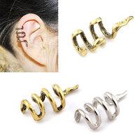 Fashion Vintage Punk Rock Snake Ear Clip Cuff Wrap Earrings No piercing-Clip On For Women/Men Silver Bronze Alloy Clip Earrings