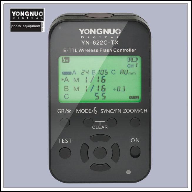 Yongnuo YN-622C-TX YN622C-TX e-TTL LCD Screen Wireless Flash Controller /Trigger for Canon cameras 1100D 1000D 600D YN-622C(China (Mainland))