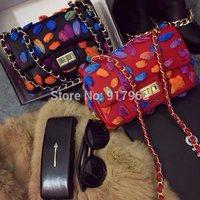 Hot-selling Europe and America famous design bag  romantic flower one shoulder bag top quality  brand  women's handbag
