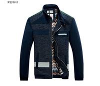 spring&autumn fashion men patchwork motorcycle jackets,casual men clothing slim coats 7003