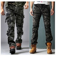 FASHION MENS MILITARY SURPLUS AIRBORNE ARMY COMBAT CARGO WORK TROUSERS PANTS MEN'S CASUAL PANTS
