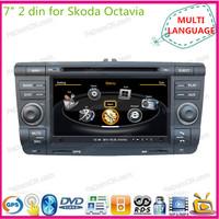 "7"" touch screen 2 din car dvd gps multimedia player automotive navigation system radio for Skoda Octavia  audio bluetooth"