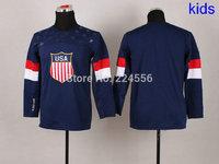 2014 Newest Team USA Hockey Jersey Sochi Winter Hockey Jersey American Hockey Jersey Blue blank and custom