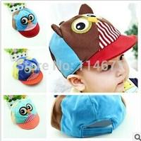 Free Shipping (3pcs/Lot) 2014 New Fashion Baby Hats Baby Cap Baseball Cap Baby Owl Hat