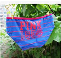 Free Shipping Women VS/Pink Panties Lady  Girl's Low waist Cotton Briefs 5pcs/lot