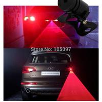 Car Universal Alarm Laser LED Fog Light Lamp Rear Anti-Collision Taillight Warning Treedy Free Shipping 1set/lot