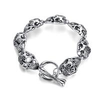 Europen fashion skull bracelet men jewelry gothic statement jewelry wholesale