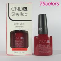 Free Shipping 2014 New arrival Fashion colors CND Shellac Soak off UV Gel Polish 10pcs/lot Total 79colors!