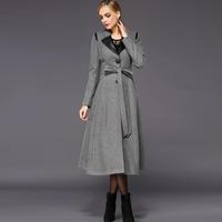 2014 winter wool outerwear wool overcoat women winter coat women thickening long trench coat