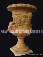 marble planter large flower pots hand carved stone garden pot outside