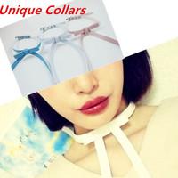 Collars 2014 Fashion NEW Harajuku Long Bow Necklaces Faux leather Rock Collar Choker 100% handmade