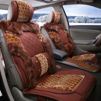 Car seat cushion winter wool cushion wolf seat car mats set auto supplies xy005, seat cover