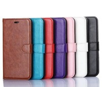 *300pcs/lot* Fashion Crazy Horse Pattern Wallet Stand PU Leather Case for iPhone6 plus 5.5inch with Card Slots and Photo Frame