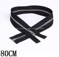 Wholesale 5 # metal Opening zipper long 80CM100 / bag Free Shipping