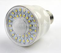 2W 4W Infrared Human Sensor LED bulb E27 Warm White White Free Ship In stock 10pcs/Lot