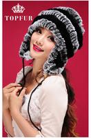 2015 New Women Winter Warm Real Natural Genuine Rabbit Fur Cap Headwear Winter warm Hat Free Shipping FP356