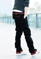 Hot Sale! Free Shipping High Quality Leisure Korean Pocket Decorated Plaid Man Long Cotton Pants 5 Colors Plus size M-XXXL