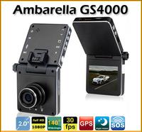 GS4000 Car DVR Ambarella A2S60 Full HD 1920*1080P With GPS+G-sensor+Motion Detection+HDMI Car Video Recorder