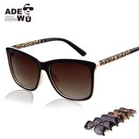 Hot Sale in ADE WU'S Ladies Retro Suqared Sunglasses Brand Women Designer Sun Glasses UV400 oculos de sol Sunglass