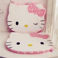 2014 New Polka Hello kitty LOVELY CUTE PINK MATTEcat series plush cartoon chair mat cushion 46*37*2.5cm