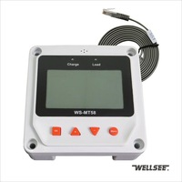 Wellsee LCD Remote Control Unit WS-MT58 match solar charge controllers