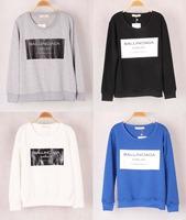2014 New Unisex Men/Women Sweatshirt Long Sleeve BALLINCIAGA Letter Hoodies four color Sweatshirs Women/Men Sweater
