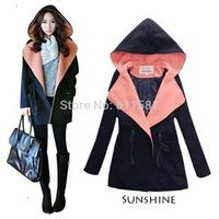 Autumn and winter outerwear woolen overcoat cloak trench women's woolen outerwear female medium-long
