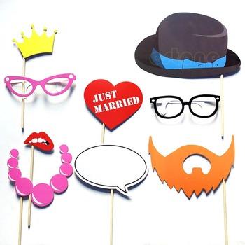 Бесплатная доставка DIY свадьба день рождения ну вечеринку маски фото стенд реквизит усы на палочке свадьбы пользу