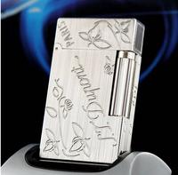 Dupont broke STDupont Dupont gas lighters broke brushed silver Clover
