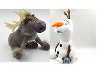Retail Chirstmas Cartoon Movie  Olaf and Sven snowman Milu deer Kristoff friend Sven Plush toy stuffed doll for kids gift